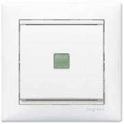 Выключатель одноклавишный с подсветкой  Valena 10 AX 250 В~ белый Legrand 774410