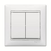 Выключатель двухклавишный Valena 10 AX 250 В~ белый Legrand 774405