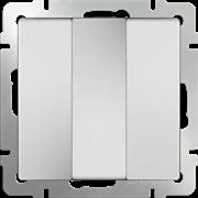 Выключатель  трехклавишный  (белый) WL01-SW-3G /10