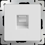 Розетка 1СП Ethernet RJ-45 (белая) WL01-RJ-45/10