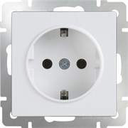 Розетка с заземлением (белая) WL01-SKG-01-IP20/10