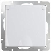 Розетка влагозащ. с зазем. с защит. крышкой и шторками (белая) WL01-SKGSC-01-IP44 /10