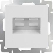 Розетка 2СП Ethernet RJ-45+RJ-45(белая) WL01-RJ-45+RJ-45/10