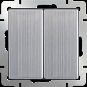 Выключатель двухклавишный (глянцевый никель) / WL02-SW-2G