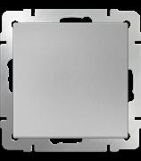 Выключатель одноклавишный  (серебряный) WL06-SW-1G/10