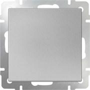 Выключатель одноклавишный проходной  (серебряный) WL06-SW-1G-2W/10