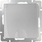 Розетка влагозащ. с зазем. с защит. крышкой и шторками  /WL06-SKGSC-01-IP44 (серебряный)