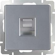 Телефонная розетка  RJ-11/WL06-RJ-11 (серебряный)