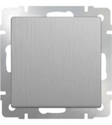 Выключатель одноклавишный (серебряный рифленый) WL09-SW-1G /10
