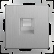 Розетка 1СП Ethernet RJ-45 (серебрянный рифленный ) WL09-RJ-45/10