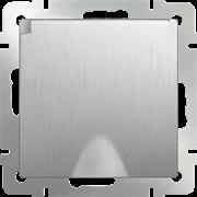 Розетка влагозащ. с зазем. с защит. крышкой и шторками (серебряный рифленый) WL09-SKGSC-01-IP44 /10