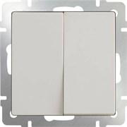 Выключатель двухклавишный (слоновая кость) WL03-SW-2G-ivor