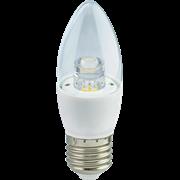 Лампа светодиодная Ecola candle   LED Premium  6,0W 220V E27 4000K прозрачная свеча с линзой (композит) 105x35 C7QV60ELC