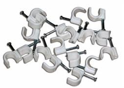 UCC-R14 White 100 POLYBAG Пластиковая скоба для круглых кабелей Uniel, тип — круглый, размер 14мм, цвет белый, 100 шт/пакет