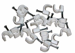 UCC-R05 White 100 POLYBAG Пластиковая скоба для круглых кабелей Uniel, тип — круглый, размер 5мм, цвет белый, 100 шт/пакет