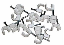 UCC-R09 White 100 POLYBAG Пластиковая скоба для круглых кабелей Uniel, тип — круглый, размер 9мм, цвет белый, 100 шт/пакет