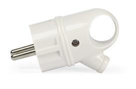 Вилка Smartbuy, с кольцом с заземлением белая 16А 250В SBE-16-P03-w