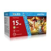 LED Гирлянда с контроллером, RGB, 15м, 200 диодов, IP44, прозрачный провод SB-RGBIP44-15m