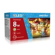 LED Гирлянда с контроллером, RGB, 8м, 120 диодов, IP20, прозрачный провод SB-RGB-8m
