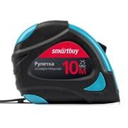 Рулетка измерительная, 10мх25мм, прорезиненный корпус, 2 фиксатора, усиленный зацеп, Smartbuy Tools