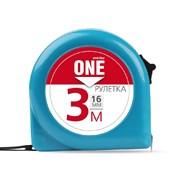 Рулетка измерительная, 3мх16мм, пластиковый корпус, фиксатор, усиленный зацеп, Smartbuy One Tools SBT-MTP-316P1