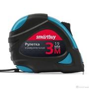 Рулетка измерительная, 3мх19мм, прорезиненный корпус, 2 фиксатора, усиленный зацеп, Smartbuy Tools
